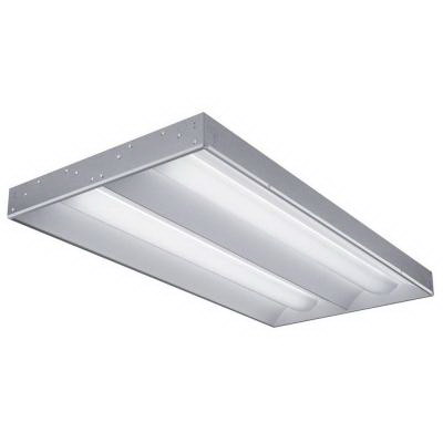 Lithonia Lighting / Acuity 2RT5-28T5-MVOLT-GEB95-LPM835P 2-Light Side Mount RT5™ Series Fluorescent Volumetric Recessed Light; 28 Watt, Lamp Included