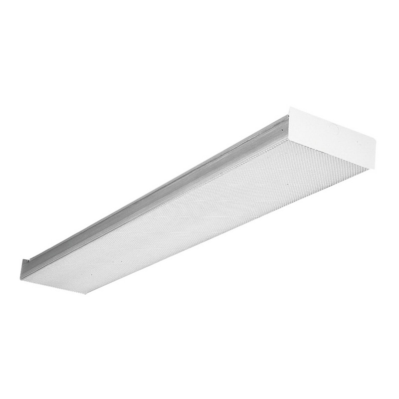 Lithonia Lighting / Acuity TSB-2-32-MVOLT-1/4-GEB10IS 2-Light Surface Mount SB Series Fluorescent Square-Basket Wraparound Fixture; 32 Watt, White, Lamp Not Included