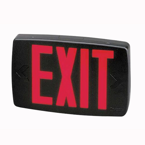 Lithonia Lighting / Acuity LQM-S-3-R-120/277-M6 Quantum® LED Exit Sign; Single, Red Letter, Black Housing