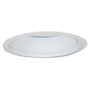 Lithonia Lighting / Acuity 6B4W-U Narrow Flanged 6 Inch Baffle Full Reflector Trim; Aluminum Reflector