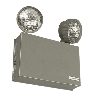 Lithonia Lighting / Acuity ELT50 Titan® Top Mount Two Head Emergency Lighting Unit; Incandescent, Instrument Tan