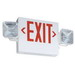 Lithonia Lighting / Acuity ECR-LED-M6 2 Light LED Combination Emergency Light and Exit Sign; 3.8 Watt, 120/277 Volt, White Housing, Red Letter
