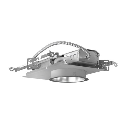 Prescolite LF6CFH132EB LiteFrame® 6 Inch Horizontal Open Downlight; 22 Gauge Galvanized Steel, Non-Insulated Ceiling