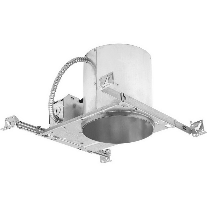 Progress Lighting P87-ATQC Air-Tite® 1-Light 6 Inch Remodel Recessed Housing With Quick Connects; Galvanized Steel, Insulated and Non-Insulated Ceiling