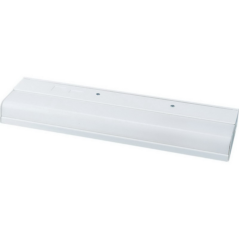 Progress Lighting P7009-30EBS 1-Light Fluorescent Under-Cabinet Light Fixture; 32 Watt, 120 Volt, White, Lamp Not Included