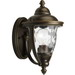 Progress Lighting P5920-108 Prestwick Family 1-Light Incandescent Small Wall Lantern; 100 Watt, Oil Rubbed Bronze, Lamp Not Included