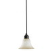 Sea Gull 61850-782 Gladstone Collection 1-Light Ceiling Mount Mini-Pendant Light Fixture; 100 Watt, Heirloom Bronze, Lamp Not Included