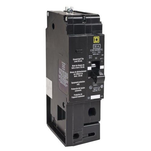Schneider Electric / Square D EGB14020SA Lighting Panelboard Miniature Circuit Breaker; 30 Amp, 277 Volt AC, 1-Pole, Bolt-On Mount