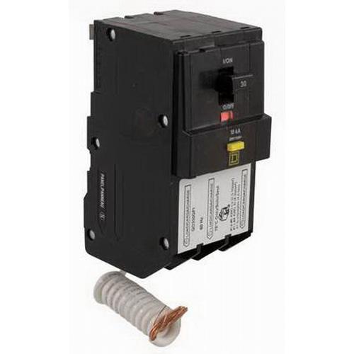 Schneider Electric / Square D QO350GFI QO™ Qwik-Gard™ Ground Fault Miniature Circuit Breaker; 50 Amp, 208Y/120 Volt AC, 3-Pole, Plug-On Mount