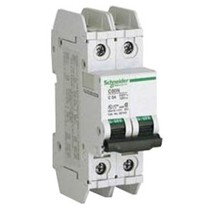 Schneider Electric / Square D MG24129 Multi 9™ Supplementary Protector; 6 Amp, 480Y/277 Volt AC, 2-Pole, DIN Rail Mount