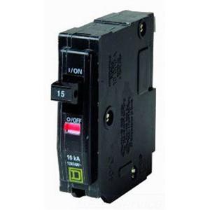 Schneider Electric / Square D  QO115 QO™ Miniature Circuit Breaker; 15 Amp, 120/240 Volt AC, 1-Pole, Plug-On Mount