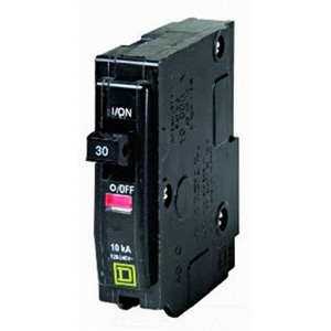 Schneider Electric / Square D  QO130 QO™ Miniature Circuit Breaker; 30 Amp, 120/240 Volt AC, 1-Pole, Plug-On Mount