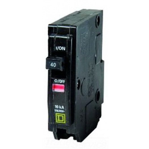 Schneider Electric / Square D  QO140 QO™ Miniature Circuit Breaker; 40 Amp, 120/240 Volt AC, 1-Pole, Plug-On Mount