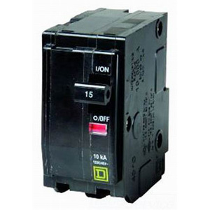 Schneider Electric / Square D  QO215 QO™ Miniature Circuit Breaker; 15 Amp, 120/240 Volt AC, 2-Pole, Plug-On Mount