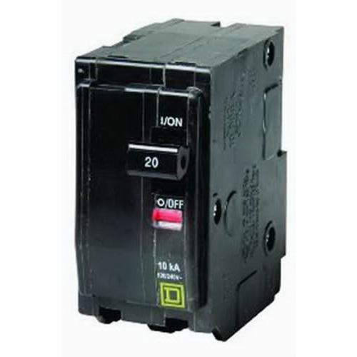 Schneider Electric / Square D  QO220 QO™ Miniature Circuit Breaker; 20 Amp, 120/240 Volt AC, 2-Pole, Plug-On Mount