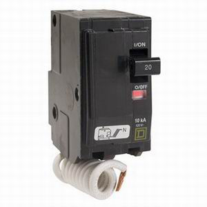 Schneider Electric / Square D  QO220SWN QO™ Switch Neutral Miniature Circuit Breaker; 20 Amp, 120 Volt AC, 2-Pole, Plug-On Mount
