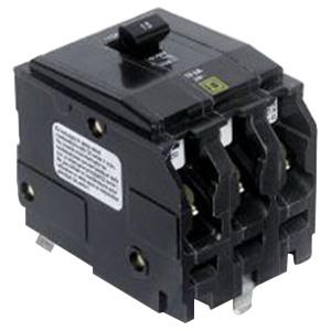 Schneider Electric / Square D  QO315 QO™ Miniature Circuit Breaker; 15 Amp, 240 Volt AC, 3-Pole, Plug-On Mount