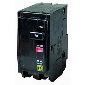 Schneider Electric / Square D  QO280 QO Miniature Circuit Breaker 80 Amp  120/240 Volt AC  2-Pole  Plug-On Mount