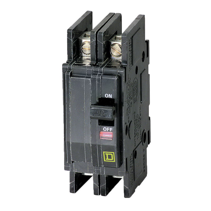 Schneider Electric / Square D QOU225 Miniature Circuit Breaker; 25 Amp, 120/240 Volt AC, 2-Pole, Unit Mount