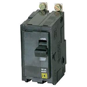 Schneider Electric / Square D QOB2125 Miniature Circuit Breaker with Visi-Trip® Indicator; 125 Amp, 120/240 Volt AC, 48 Volt DC, 2-Pole, Bolt-On Mount