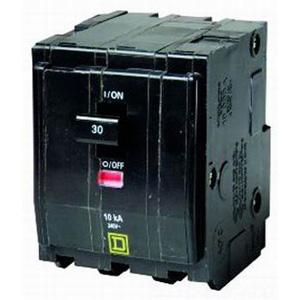 Schneider Electric / Square D QO360VH QO™ Miniature Circuit Breaker; 60 Amp, 240 Volt AC, 3-Pole, Plug-On Mount