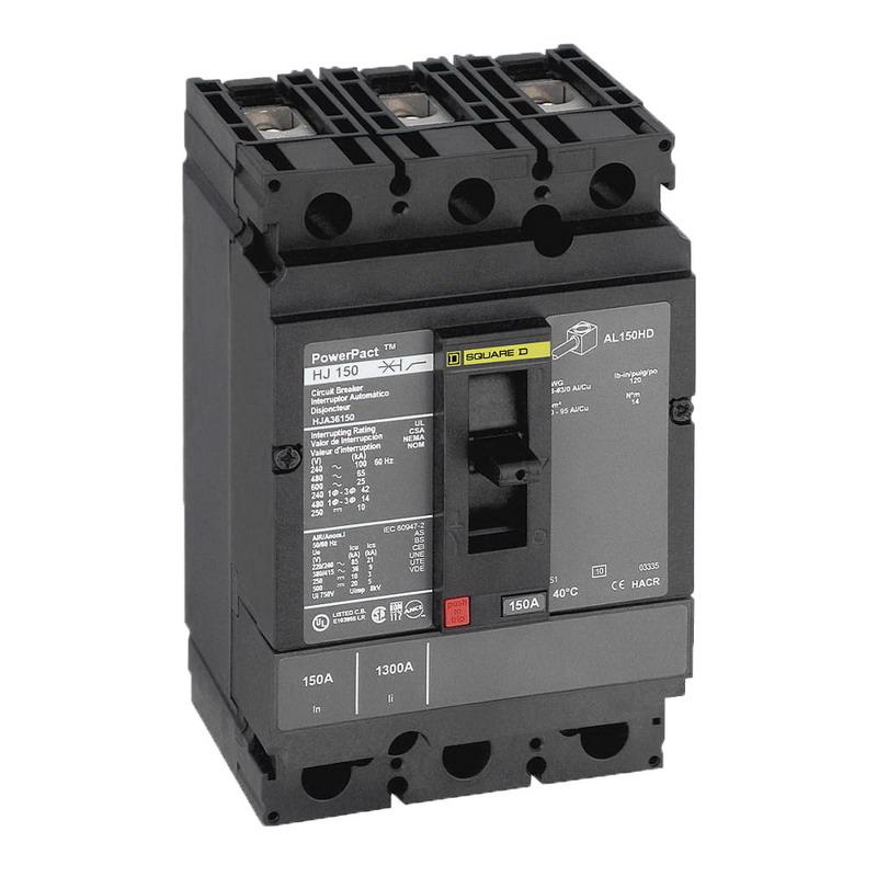 Schneider Electric / Square D HGL36030 PowerPact® Molded Case Circuit Breaker; 30 Amp, 600 Volt AC, 250 Volt DC, 3-Pole, Unit Mount