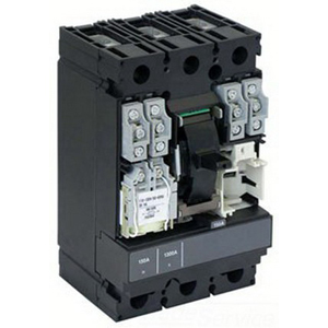 Schneider Electric / Square D HJA36125 PowerPact® Molded Case Circuit Breaker; 125 Amp, 600 Volt AC, 250 Volt DC, 3-Pole, Plug-On Mount