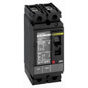 Schneider Electric / Square D HDL26015 PowerPact® Molded Case Circuit Breaker; 15 Amp, 600 Volt AC, 250 Volt DC, 2-Pole, Unit Mount