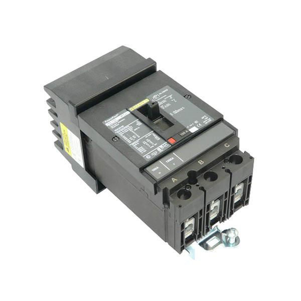 Schneider Electric / Square D HDA36100 PowerPact® Molded Case Circuit Breaker; 100 Amp, 600 Volt AC, 250 Volt DC, 3-Pole, Plug-On Mount