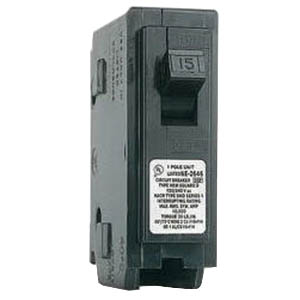 Schneider Electric / Square D  HOM115 Homeline™ Miniature Circuit Breaker; 15 Amp, 120/240 Volt AC, 1-Pole, Plug-On Mount