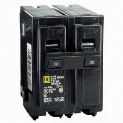 Schneider Electric / Square D  HOM235 Homeline™ Miniature Circuit Breaker; 35 Amp, 120/240 Volt AC, 2-Pole, Plug-On Mount