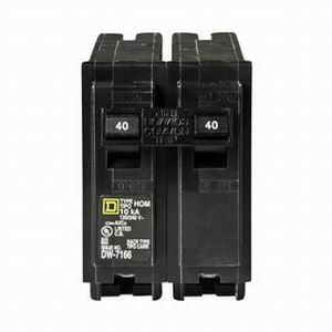 Schneider Electric / Square D HOM245 Homeline™ Miniature Circuit Breaker; 45 Amp, 120/240 Volt AC, 2-Pole, Plug-On Mount