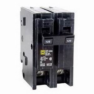 Schneider Electric / Square D HOM2125 Homeline™ Miniature Circuit Breaker; 125 Amp, 120/240 Volt AC, 2-Pole, Plug-On Mount