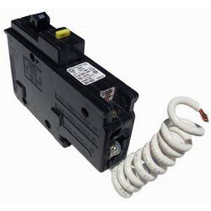 Schneider Electric / Square D  HOM120GFI Homeline™ Ground Fault Miniature Circuit Breaker; 20 Amp, 120 Volt AC, 1-Pole, Plug-On Mount