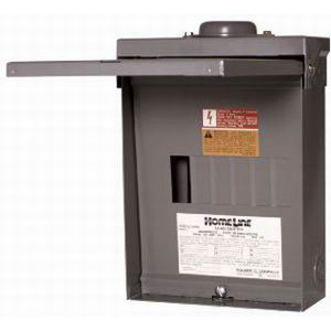Schneider Electric / Square D  HOM612L100RB Homeline™ Fixed Main Lug Load Center; 100 Amp, 120/240 Volt AC, 1 Phase, 6 Space, 12 Circuit, 3-Wire, Surface