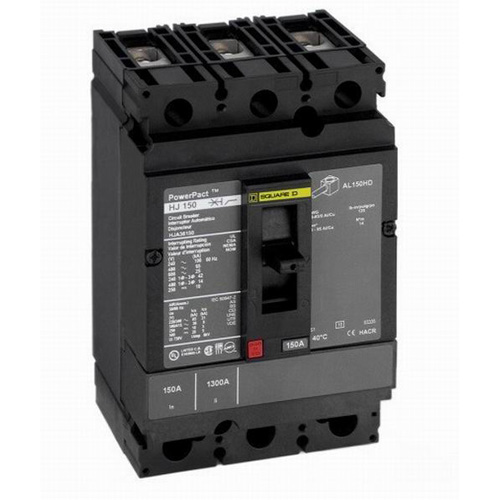 Schneider Electric / Square D HDL36150 PowerPact Molded Case Circuit Breaker 150 Amp 600 Volt AC 250 Volt DC 3-Pole Unit Mount