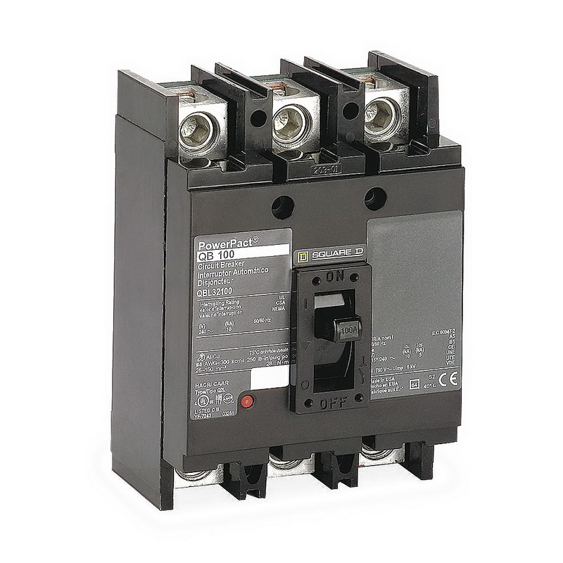 Schneider Electric / Square D QDL32150 PowerPact® Molded Case Circuit Breaker; 150 Amp, 240 Volt AC, 3-Pole, Unit Mount