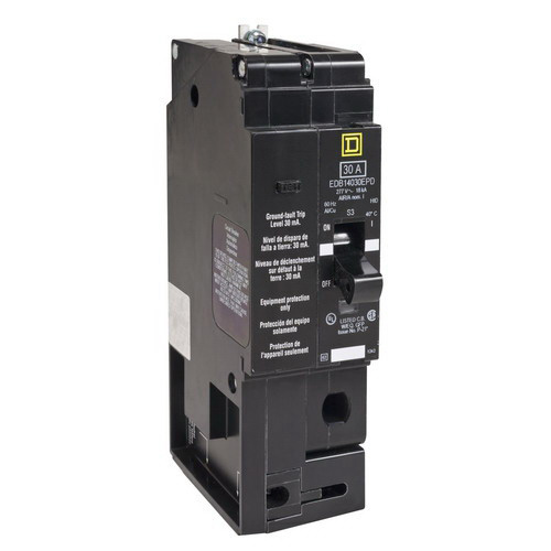 Schneider Electric / Square D EDB14030EPD Lighting Panelboard Miniature Circuit Breaker; 30 Amp, 277 Volt AC, 1-Pole, Bolt-On Mount