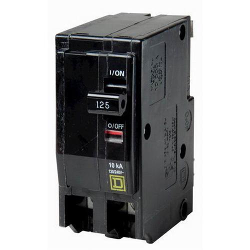 Schneider Electric / Square D QO2125VH QO™ Miniature Circuit Breaker; 125 Amp, 120/240 Volt AC, 2-Pole, Plug-On Mount