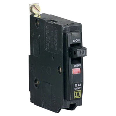 Schneider Electric / Square D QOB130VH Miniature Circuit Breaker with Visi-Trip® Indicator; 30 Amp, 120/240 Volt AC, 1-Pole, Bolt-On Mount