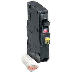 Schneider Electric / Square D QO120EPD QO™ Miniature Circuit Breaker; 20 Amp, 120 Volt AC, 1-Pole, Plug-On Mount