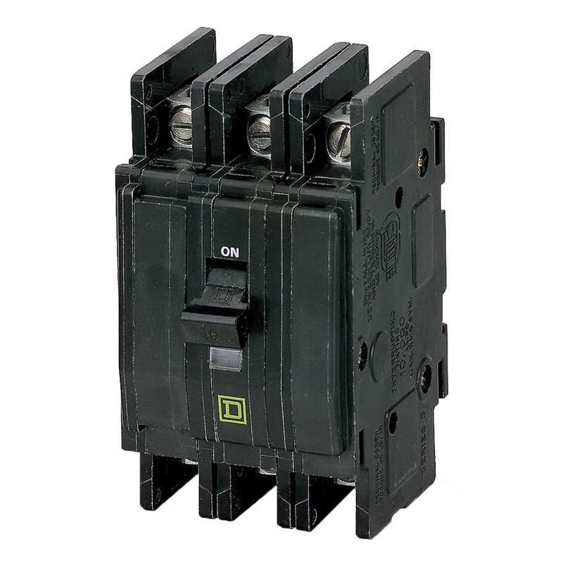 Schneider Electric / Square D QOU390 Miniature Circuit Breaker; 90 Amp, 240 Volt AC, 3-Pole, Unit Mount