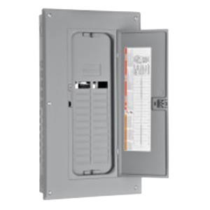 Schneider Electric / Square D  HOM24L125TC Homeline™ Convertible Main Lug Load Center; 125 Amp, 120/240 Volt AC, 1 Phase, 2 Space, 4 Circuit, 3-Wire, Flush/Surface