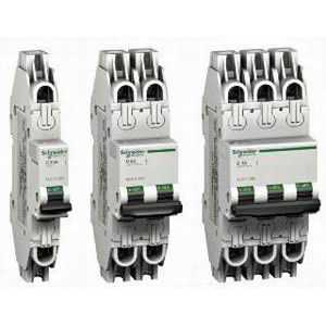 Schneider Electric / Square D  MGN61318 Multi 9™ Supplementary Protector; 8 Amp, 480Y/277 Volt AC, 2-Pole, DIN Rail Mount