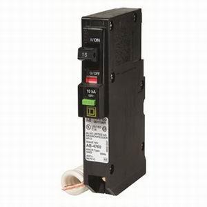 Schneider Electric / Square D QO115CAFI QO™ Combination Arc Fault Miniature Circuit Breaker; 15 Amp, 120 Volt AC, 1-Pole, Plug-On Mount