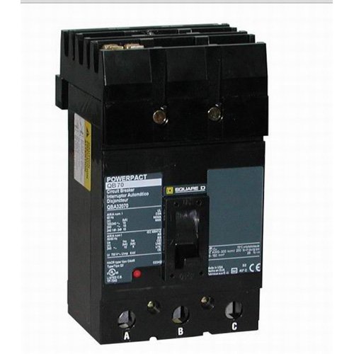 Schneider Electric / Square D QGA32225 I-Line® Powerpact® Molded Case Circuit Breaker; 225 Amp, 240 Volt AC, 3-Pole, Plug-On Mount