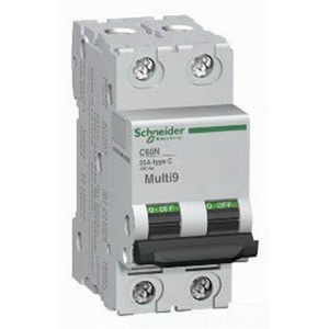 Schneider Electric / Square D  MG24442 Multi 9™ Supplementary Protector; 1 Amp, 480Y/277 Volt AC, 2-Pole, DIN Rail Mount