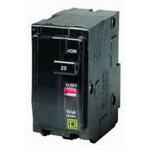 Schneider Electric / Square D  QO220H QO™ Miniature Circuit Breaker; 20 Amp, 240 Volt AC, 2-Pole, Plug-On Mount