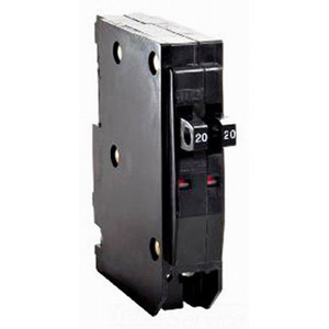 Schneider Electric / Square D  QOT2020 QO™ Tandem Miniature Circuit Breaker; 20/20 Amp, 120/240 Volt AC, 1-Pole, Plug-On Mount