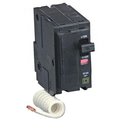 Schneider Electric / Square D QO215SWN QO™ Switch Neutral Miniature Circuit Breaker; 15 Amp, 120 Volt AC, 2-Pole, Plug-On Mount